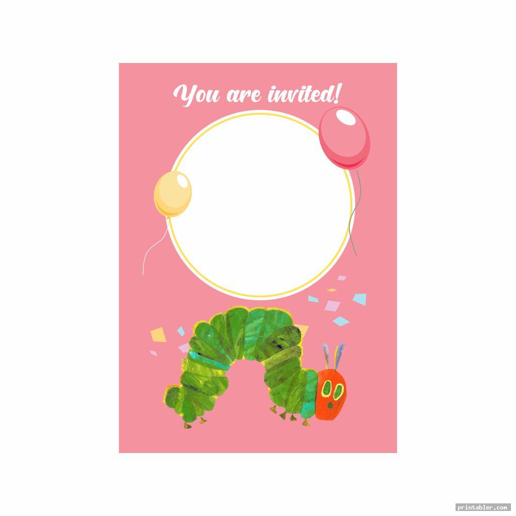 invitation very hungry caterpillar birthday printables