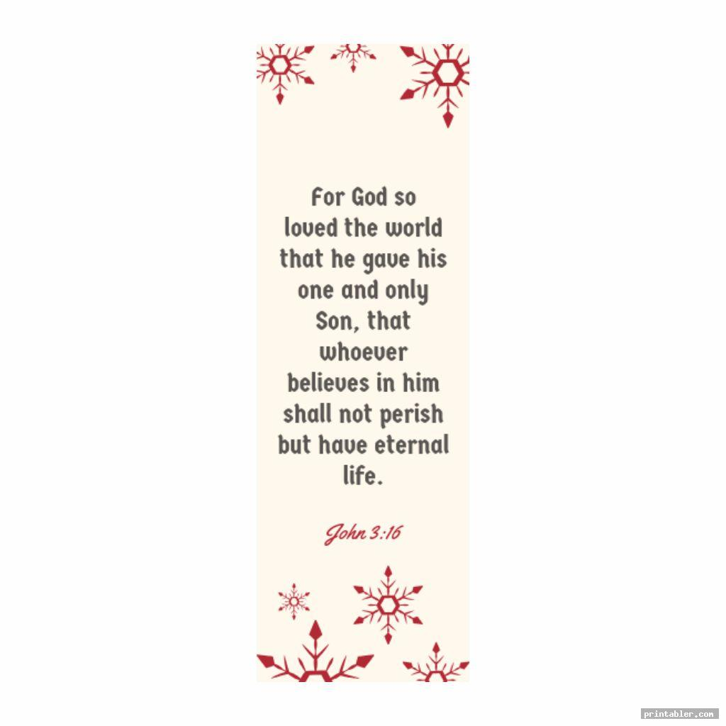 John 3 16 Printable Bookmark