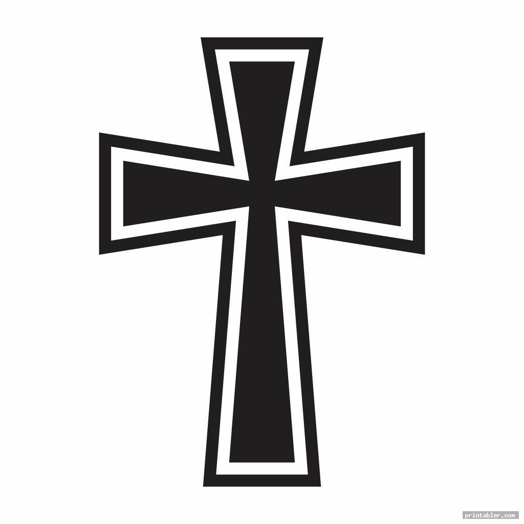 large printable cross stencil image free