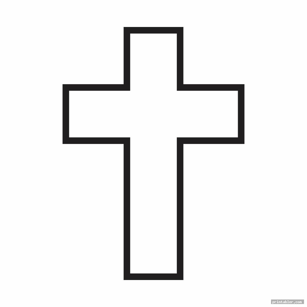 large printable cross stencil template for use
