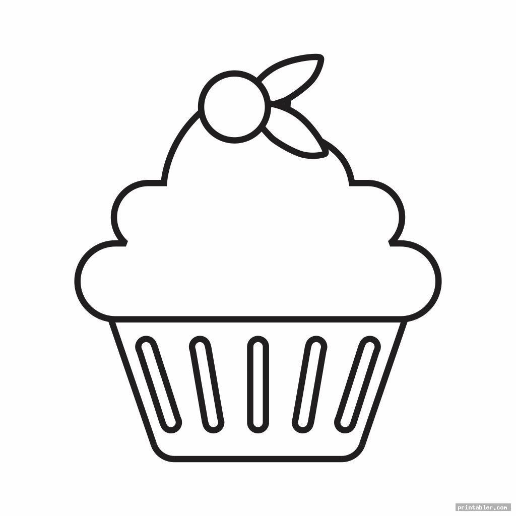 lovely cupcake printable template for preschool