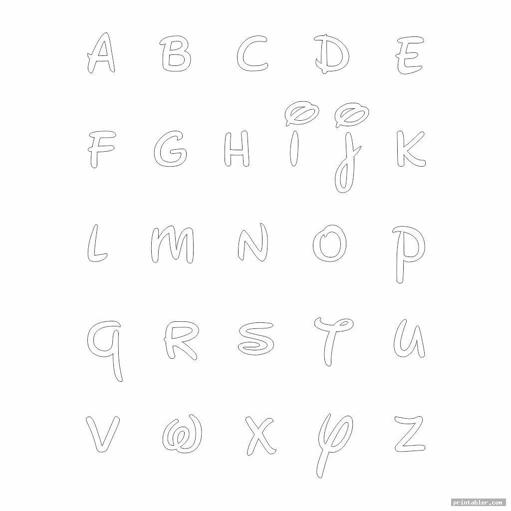 lowercase printable bubble letters disney style
