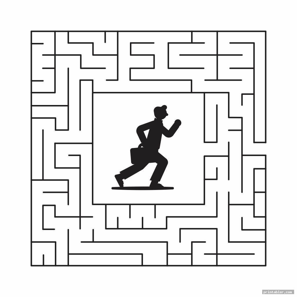 maze brain games seniors printable worksheets