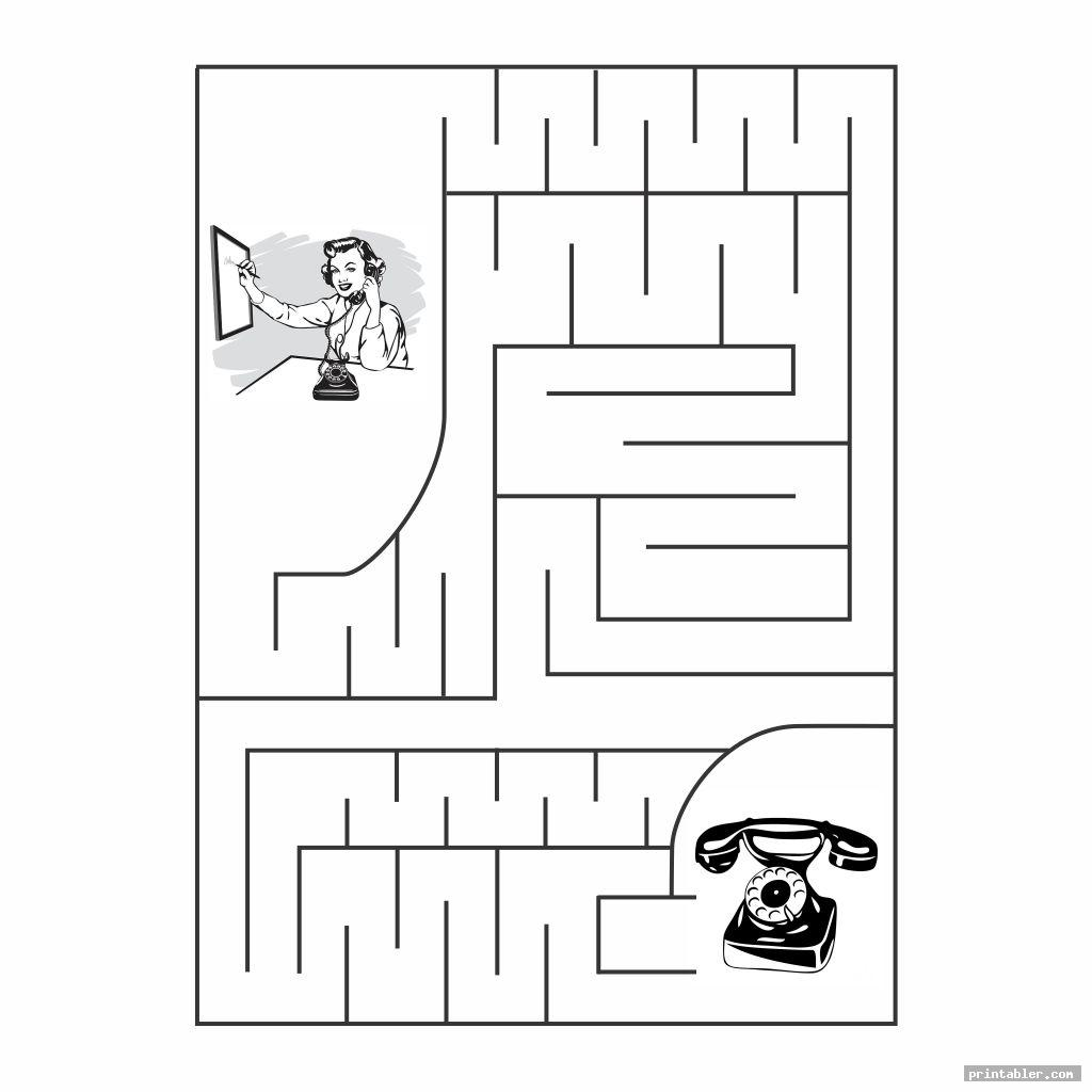 maze printable dementia activities