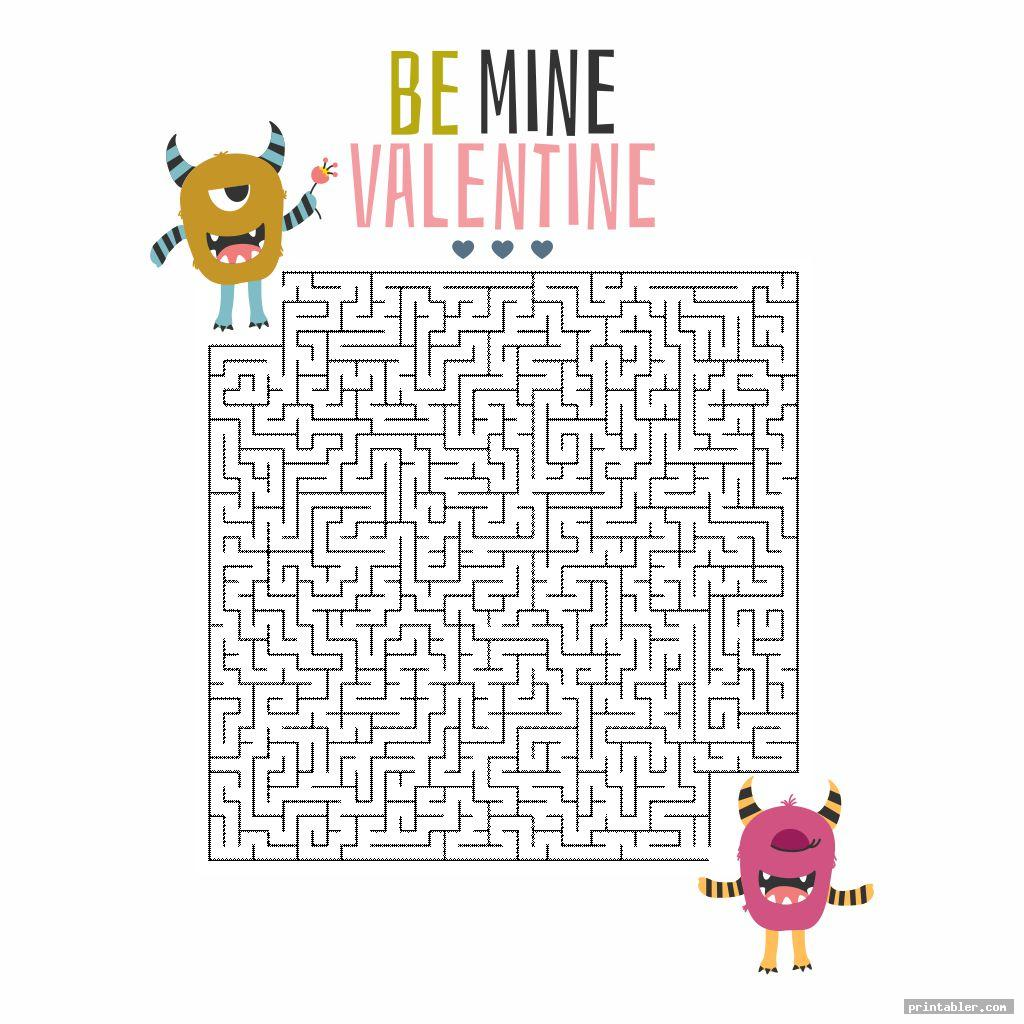 maze valentine s day printable puzzles