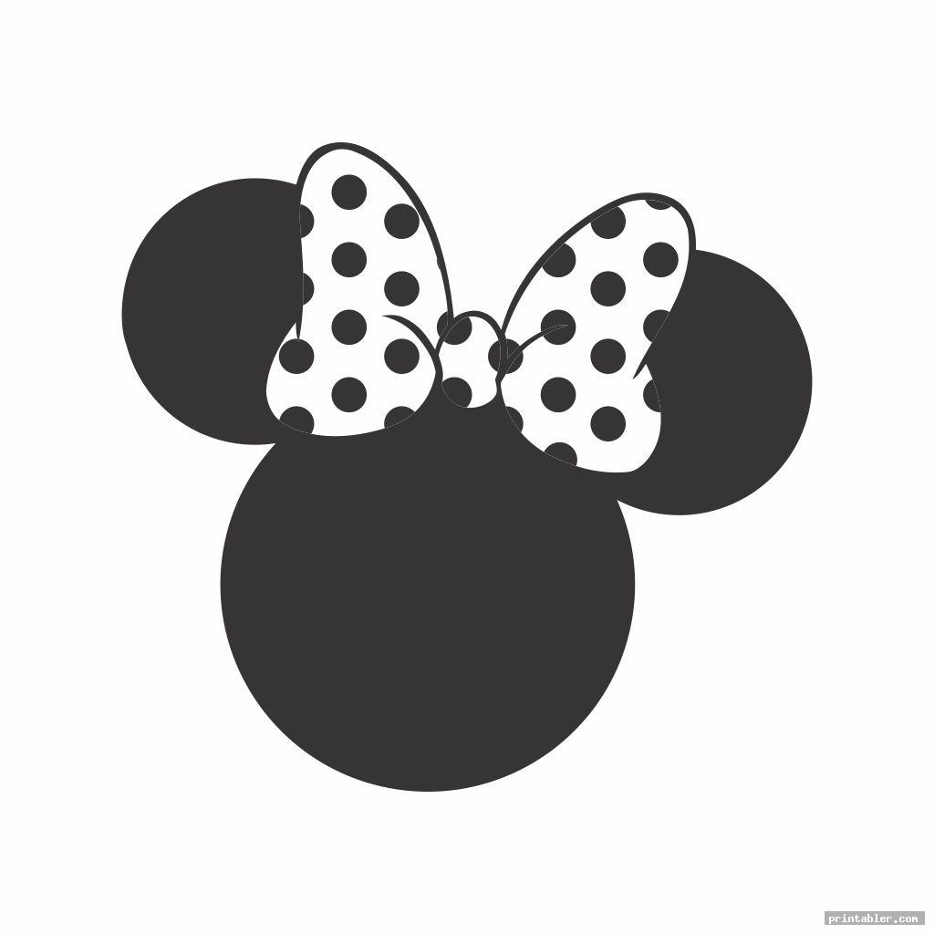 minnie mouse face template printable template for use