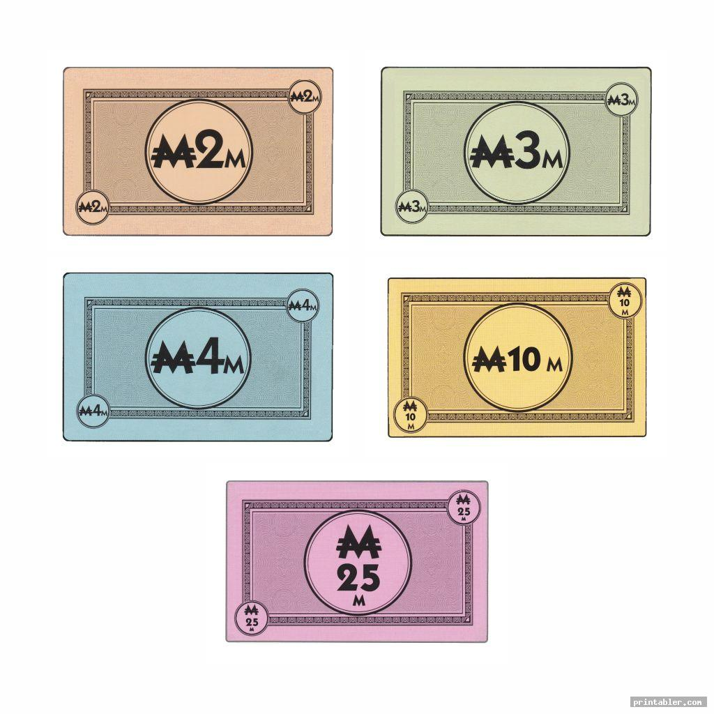 Monopoly Cards Printable