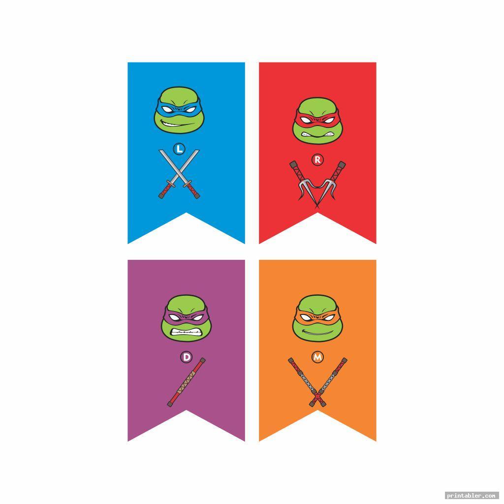 ninja turtle happy birthday banner printable image free