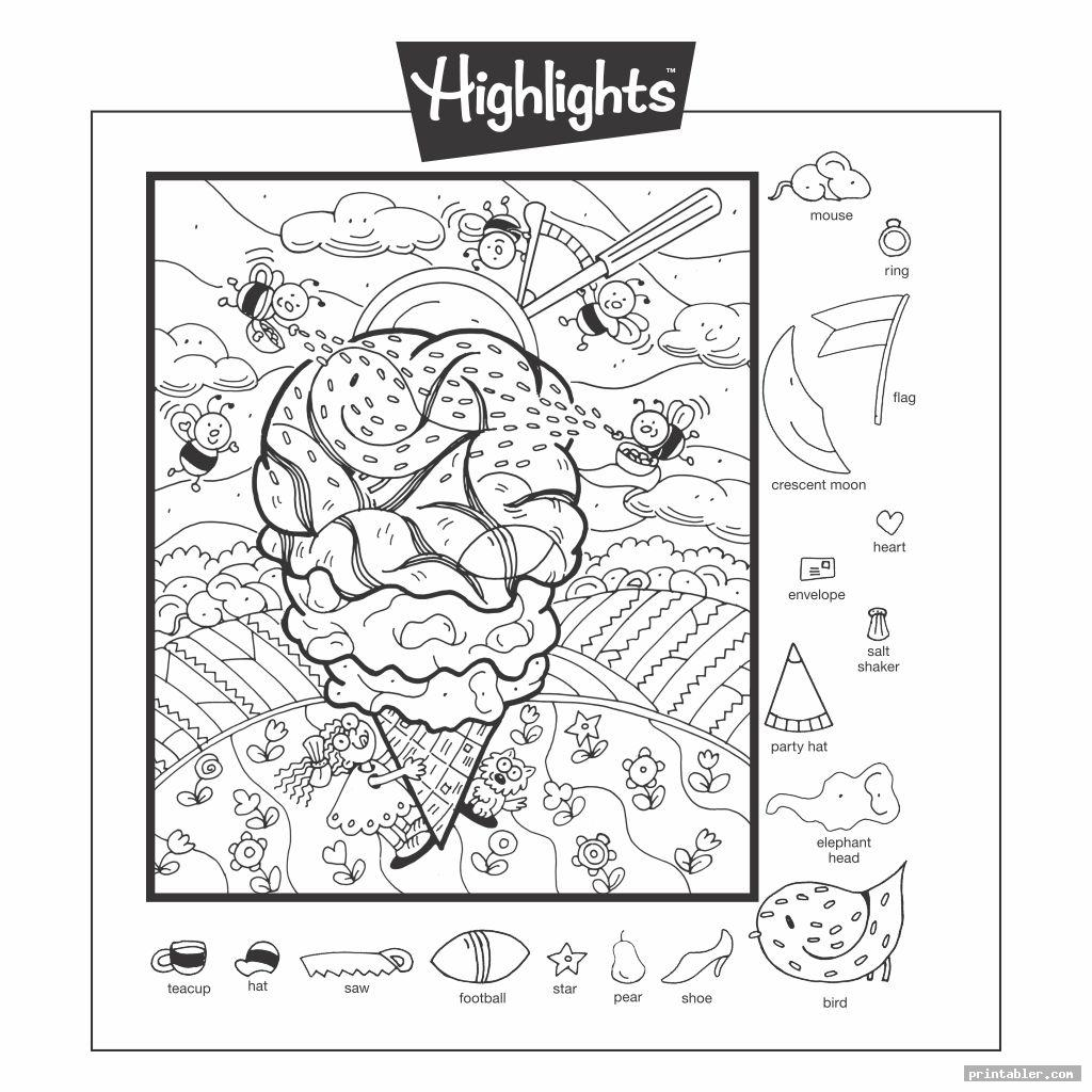 Highlights Magazine Hidden Object Printable
