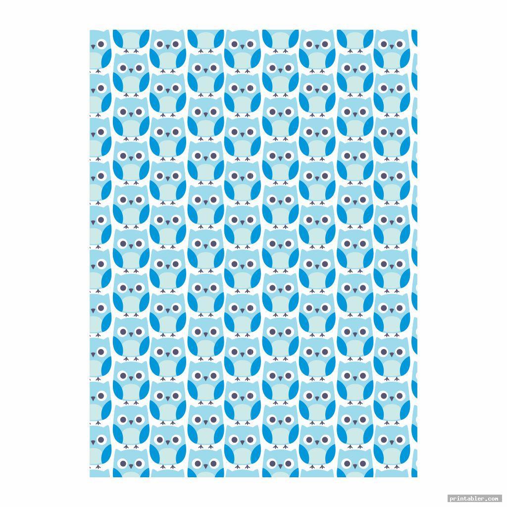 owl boy scrapbook paper printable pattern