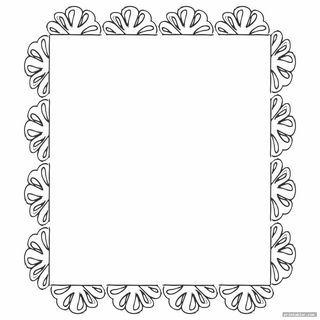 paper frame template printable for use