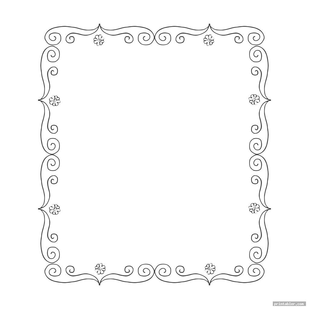 paper frame template printable image free