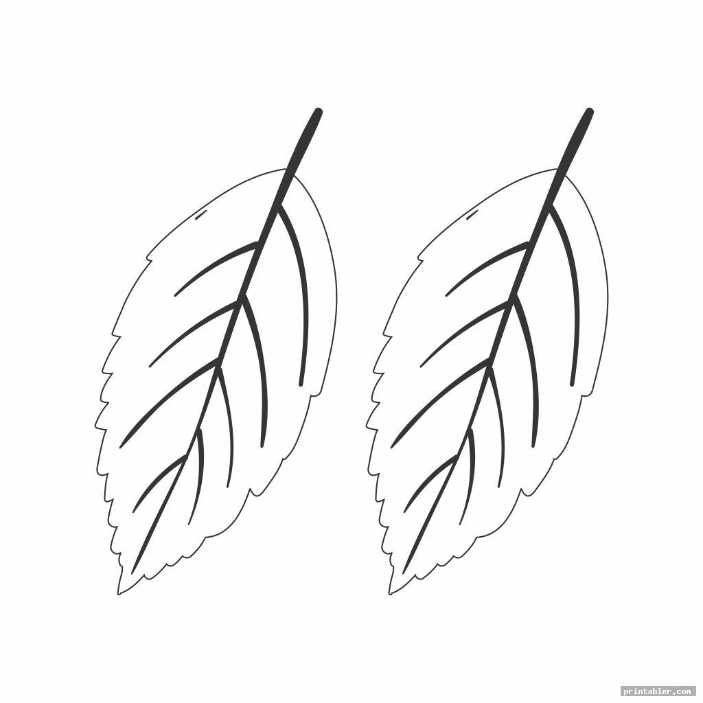 paper printable leaf patterns template for use