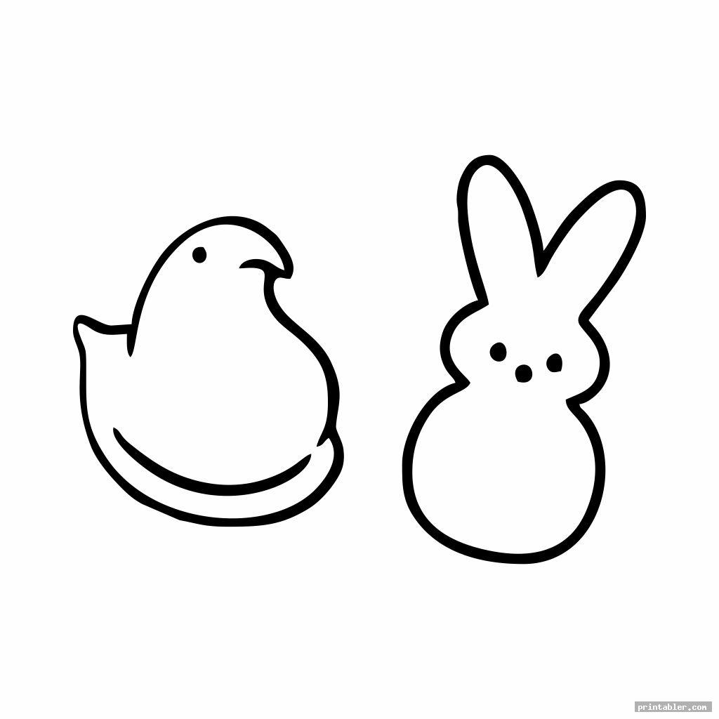 Peeps Chick Template Printable