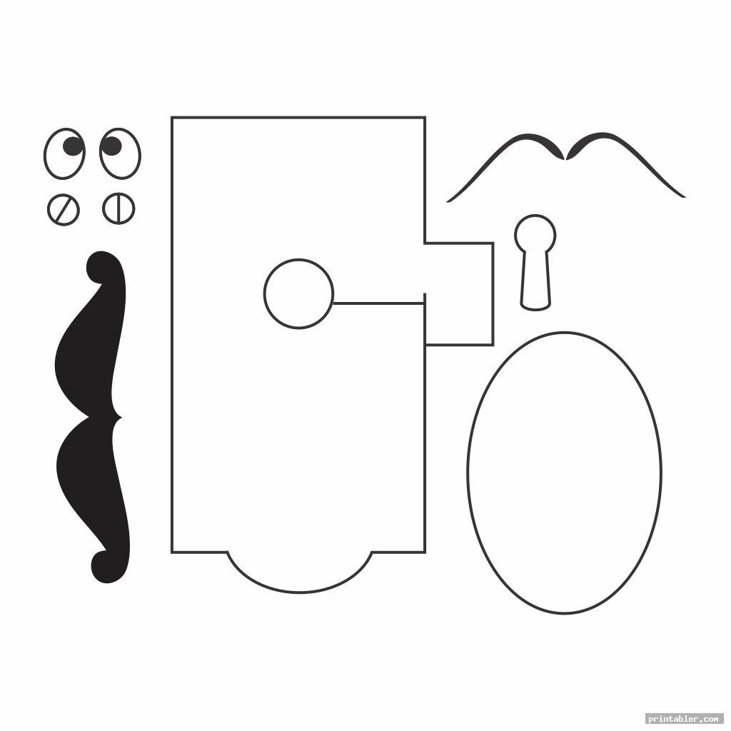 printable alice in wonderland door knob template for use