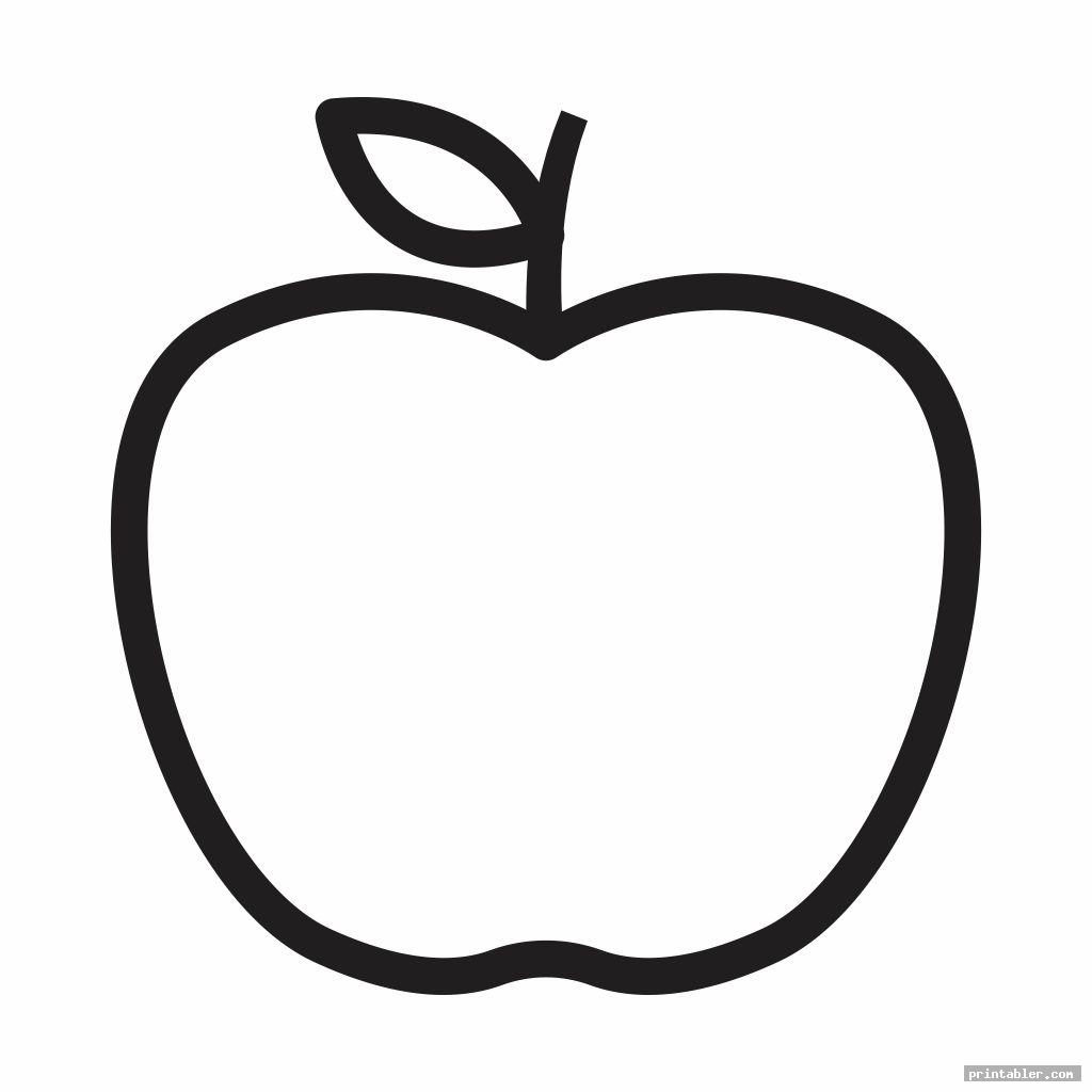 printable apple template preschool for use