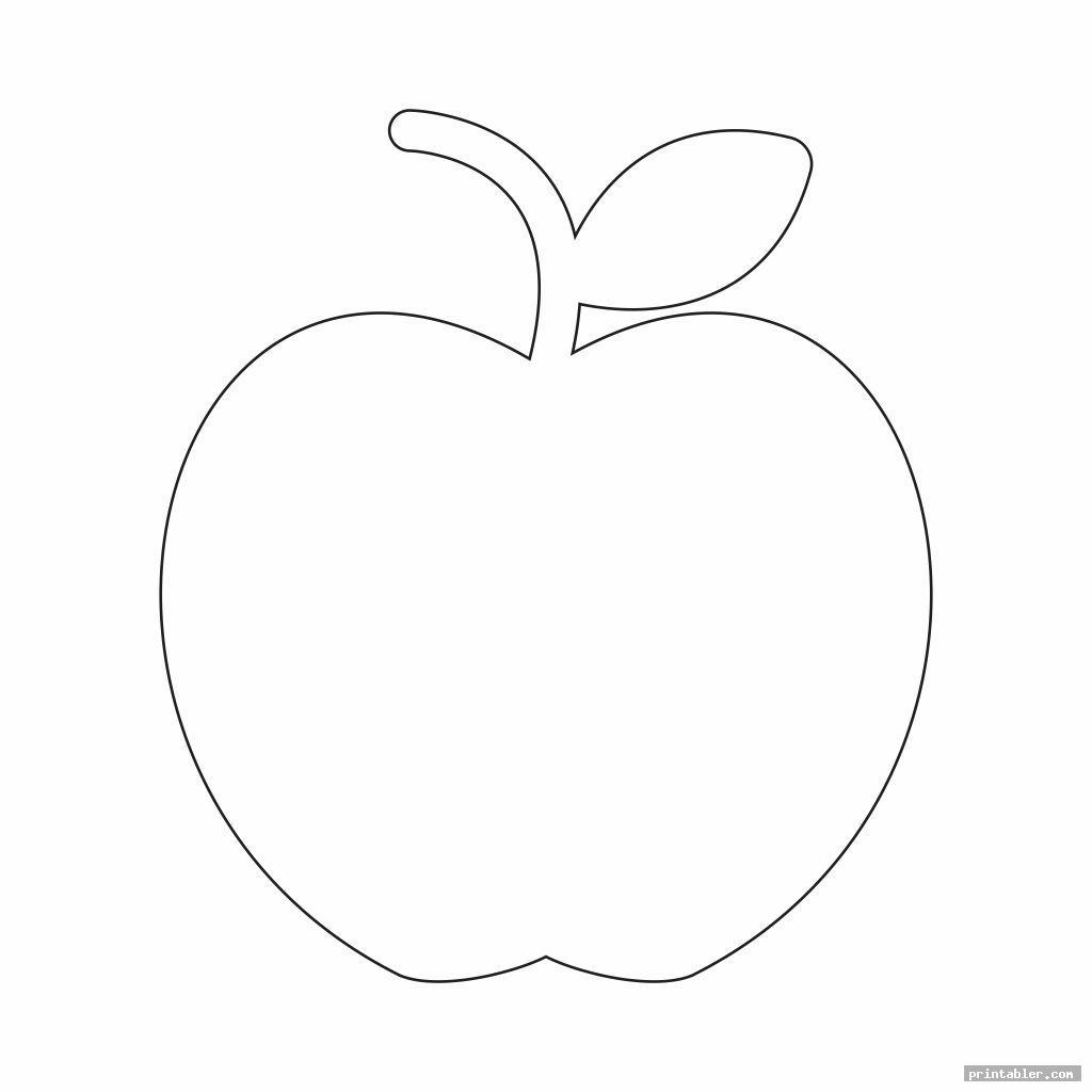 printable apple template preschool image free