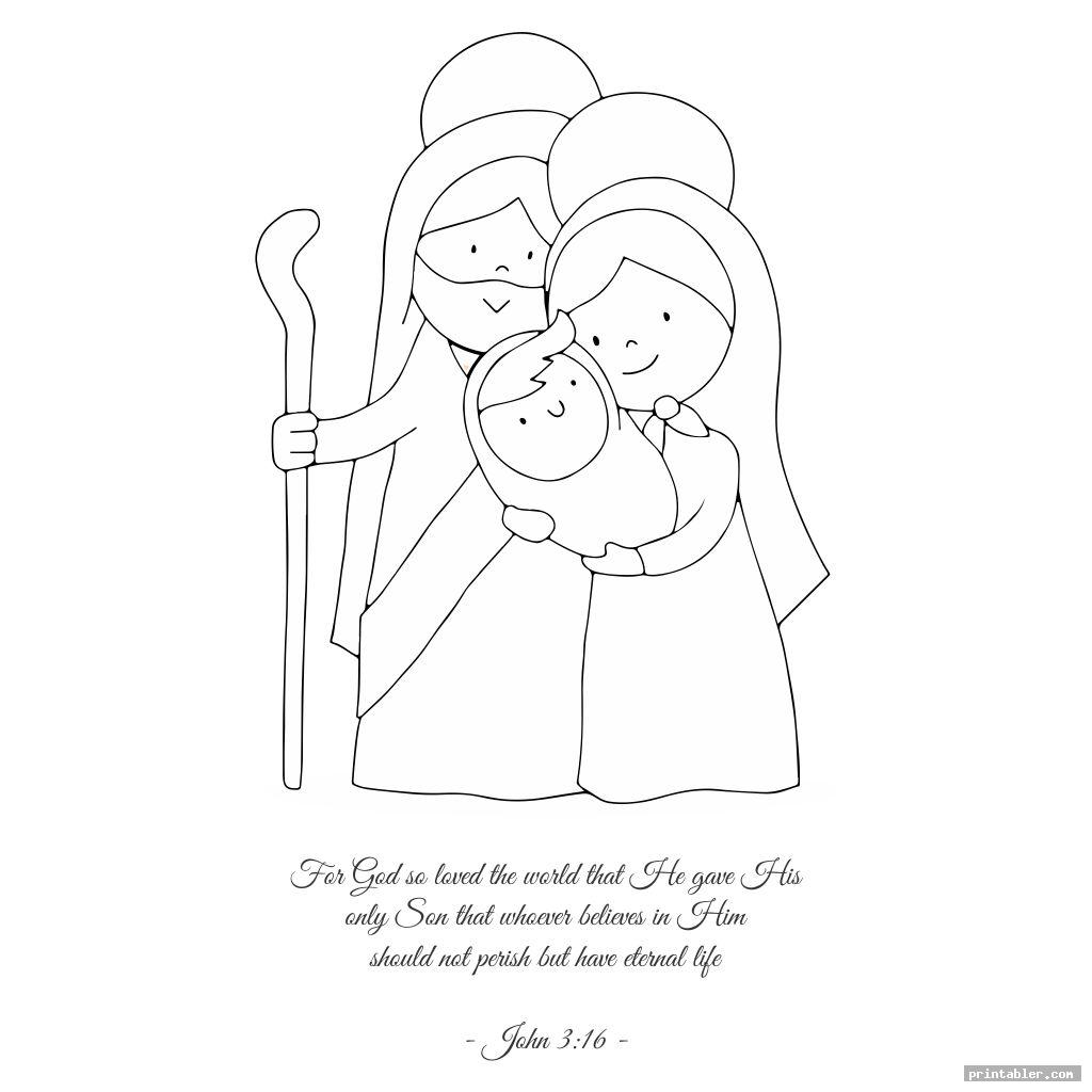 printable coloring page with john 3 16 image free