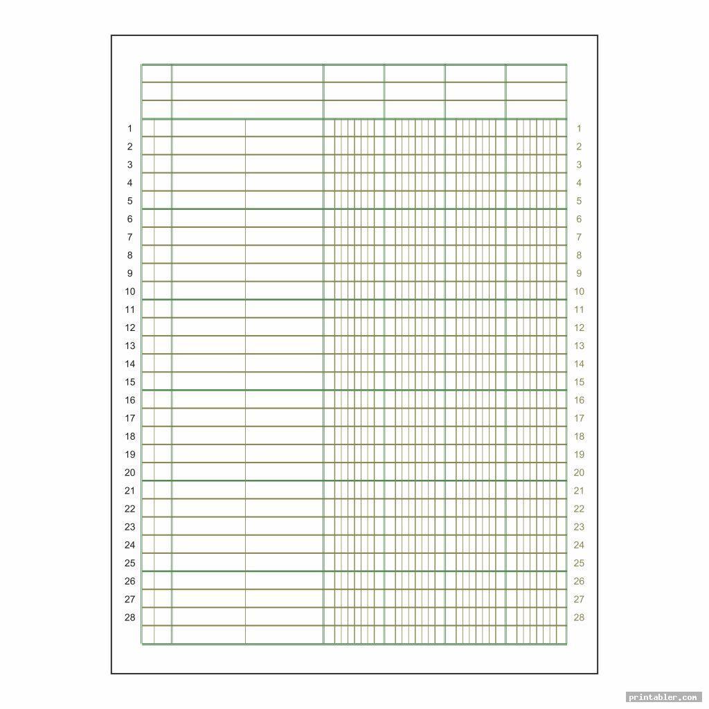 Printable Columnar Sheets