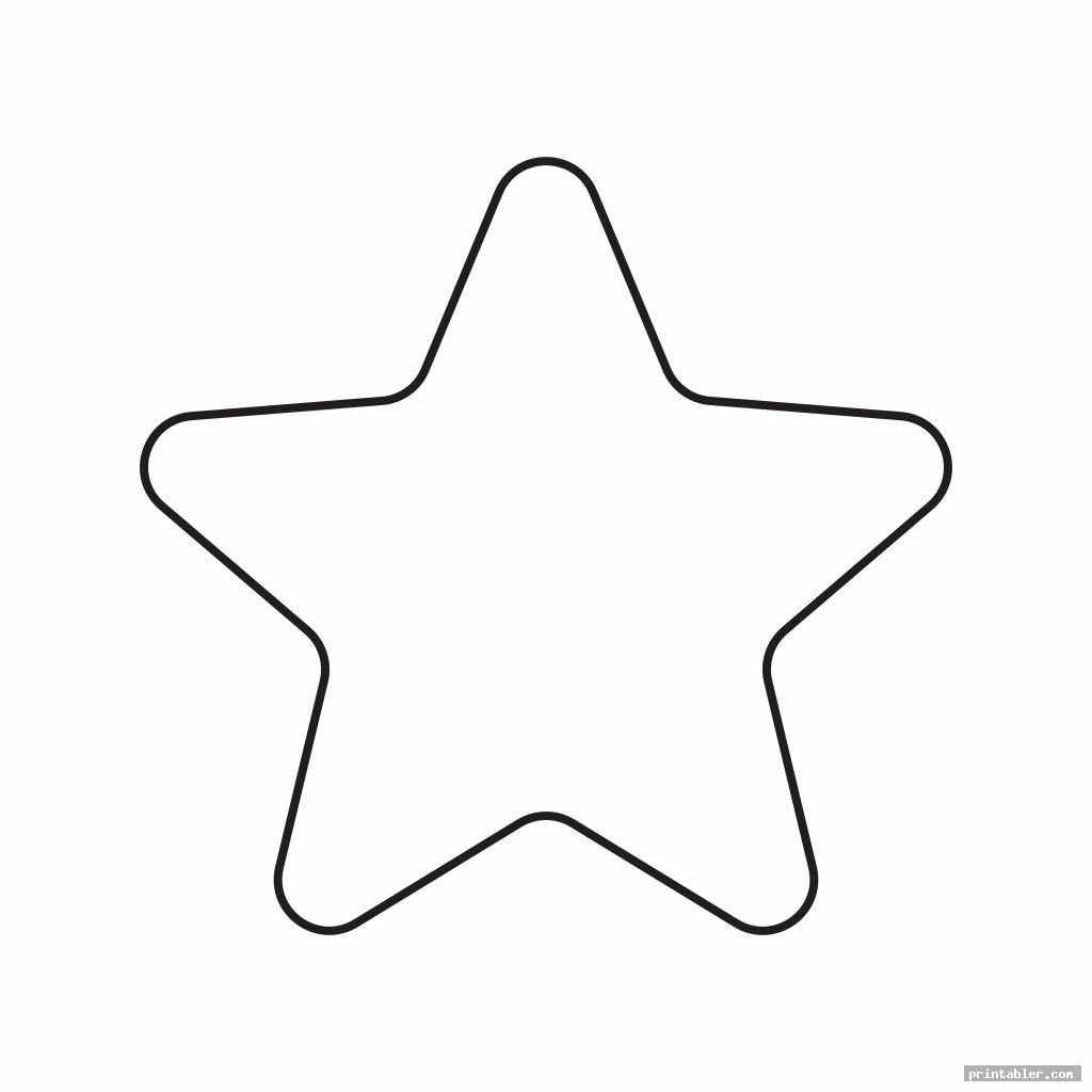 printable cut out star shape image free