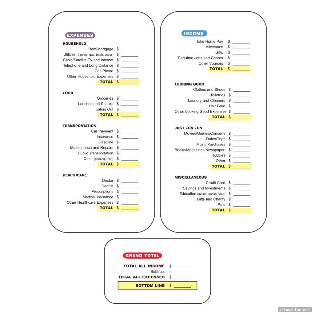 printable dave ramsey budget worksheets image free