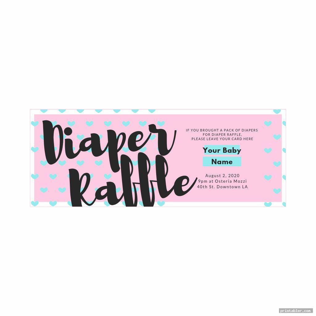 printable diaper raffle sign image free