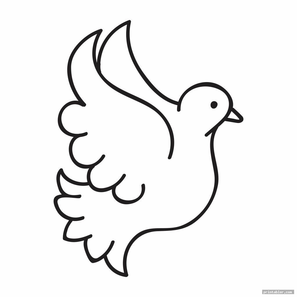 Printable Dove Template
