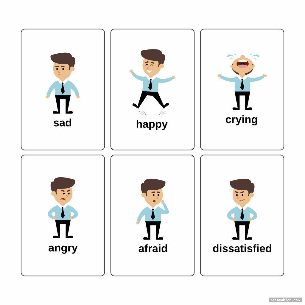 printable emotion cards image free
