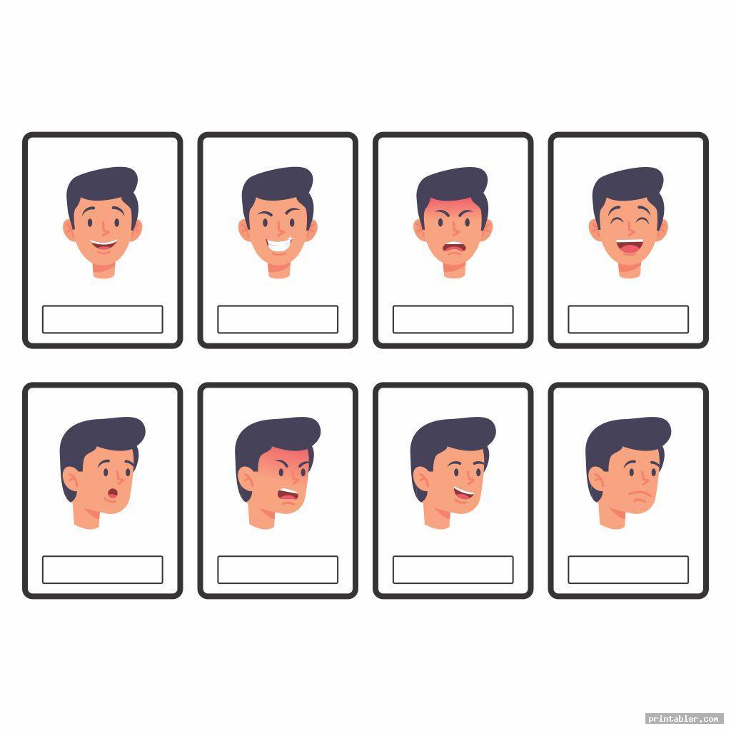 printable emotion cards worksheet