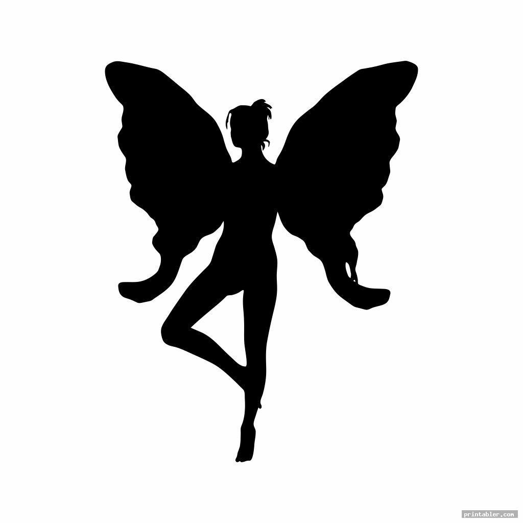 printable fairy silhouette image free