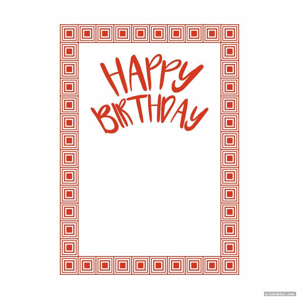 printable happy birthday borders image free
