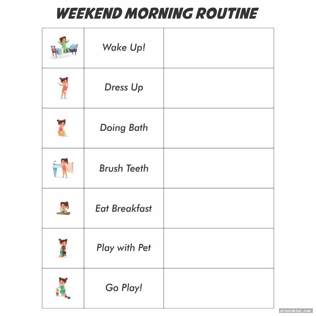 printable kids daily routine schedule image free