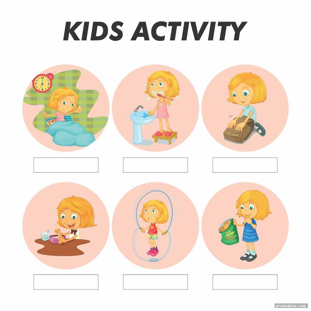 printable kids daily routine schedule worksheet