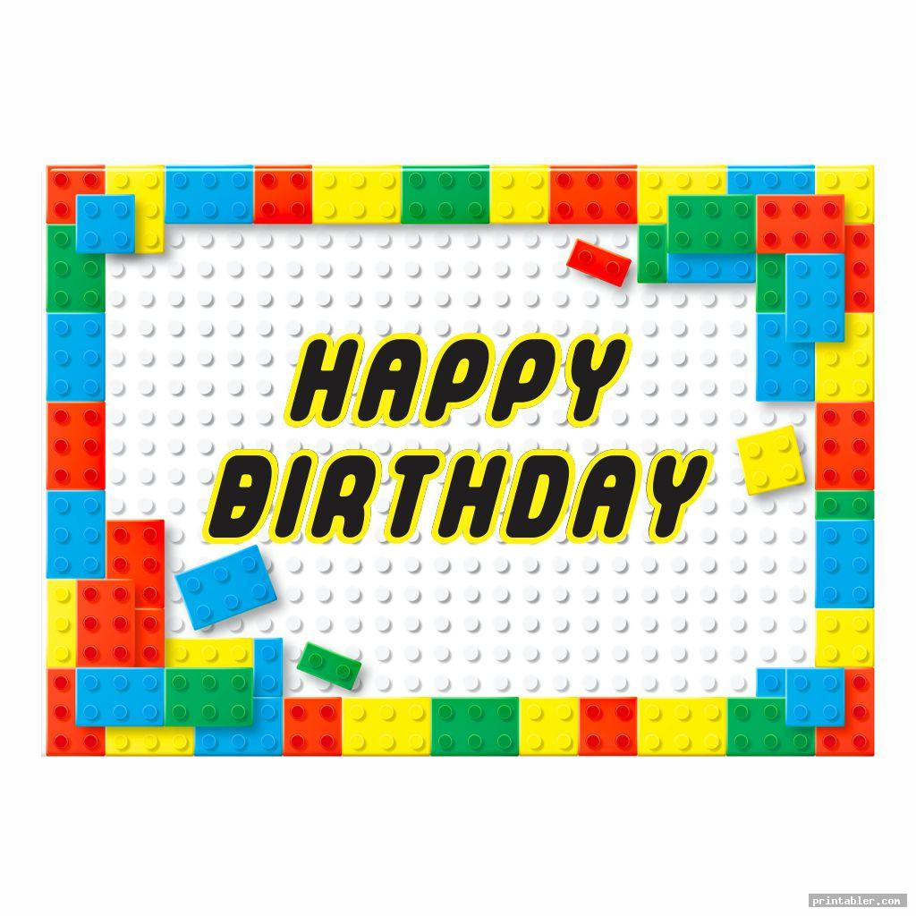 Printable Lego Happy Birthday Signs
