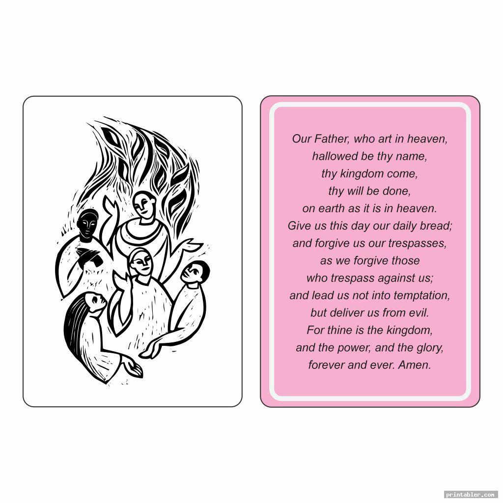 printable lord s prayer craft image free