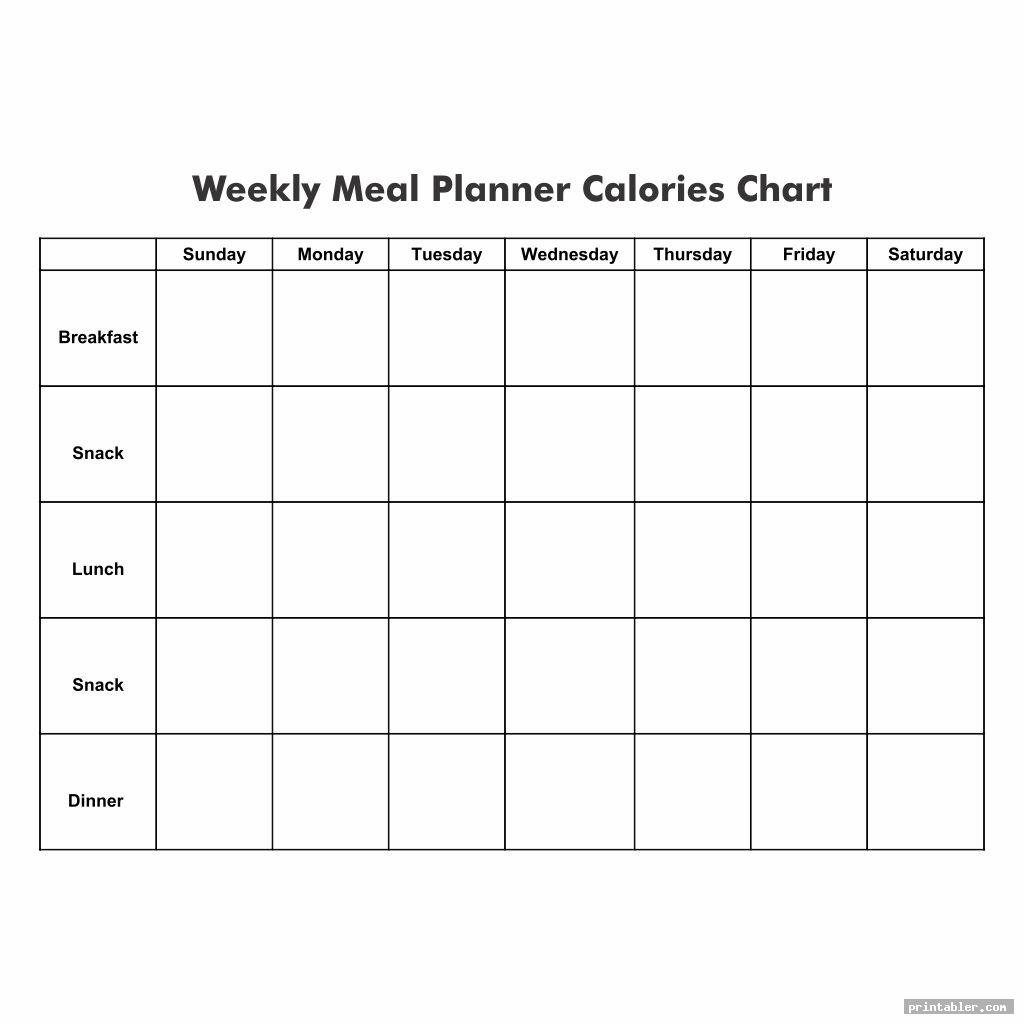 printable meal planner calorie charts image free