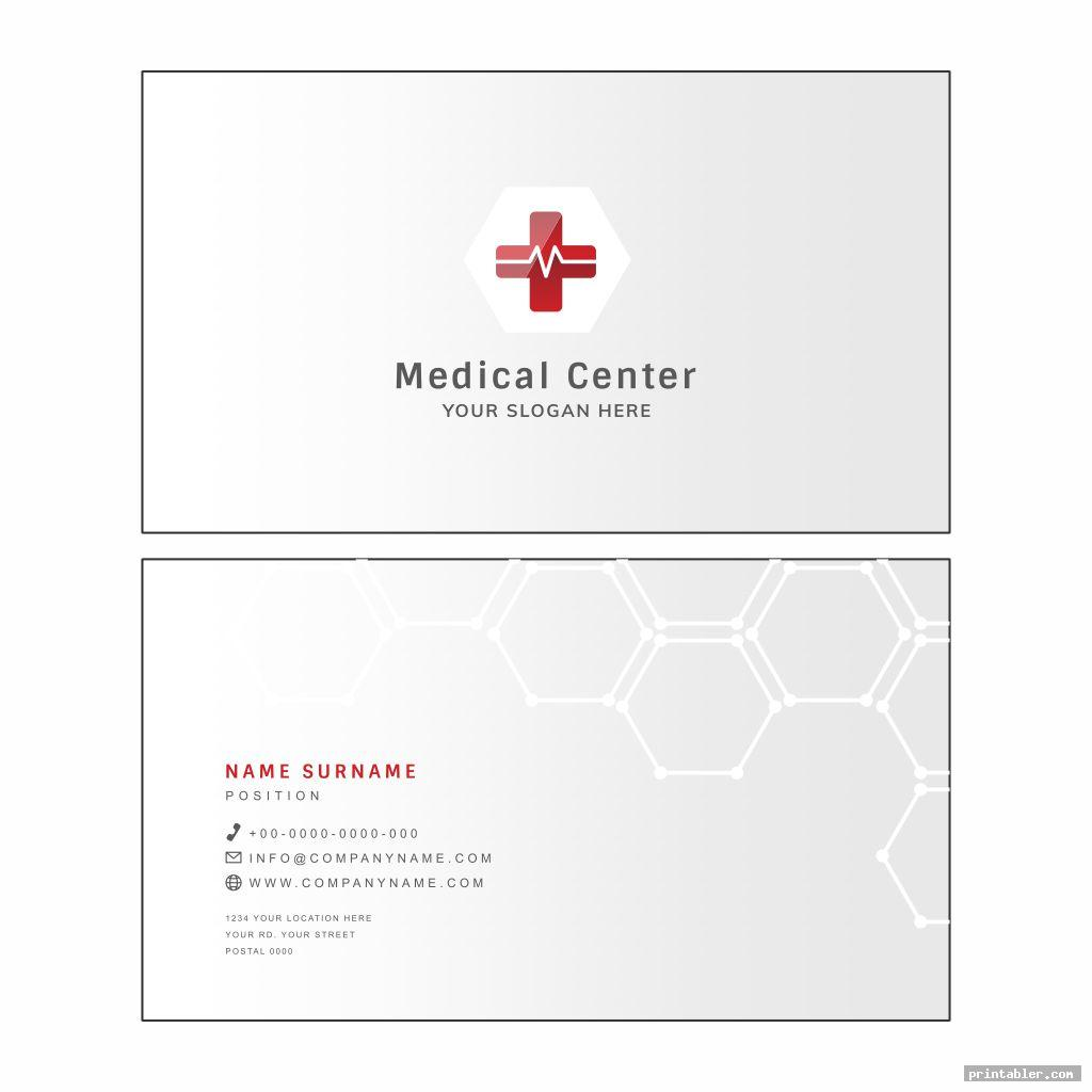 printable medical cards image free