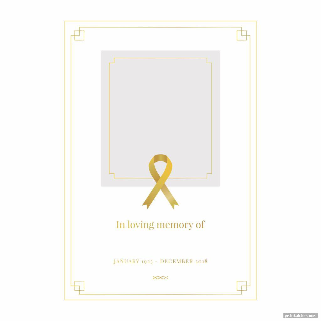 printable memorial prayer cards template for use