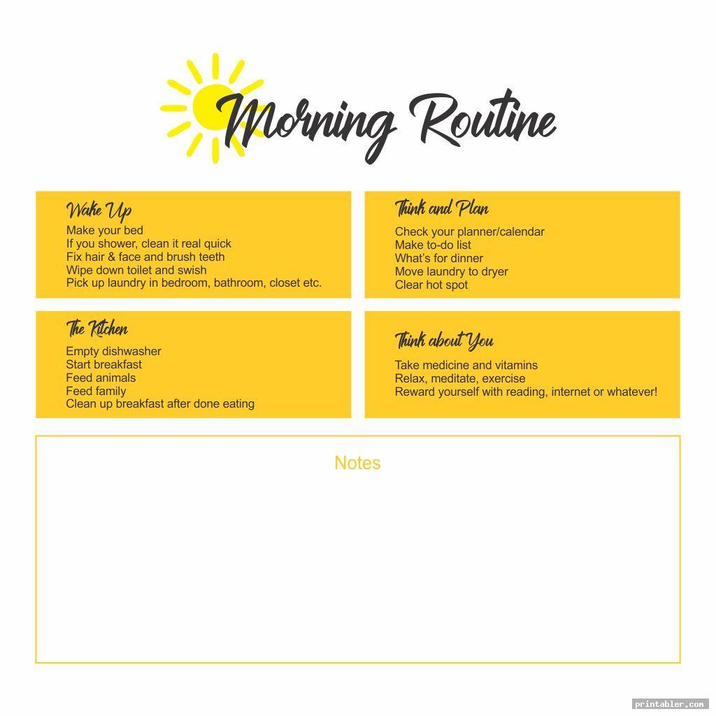printable morning routine flylady image free