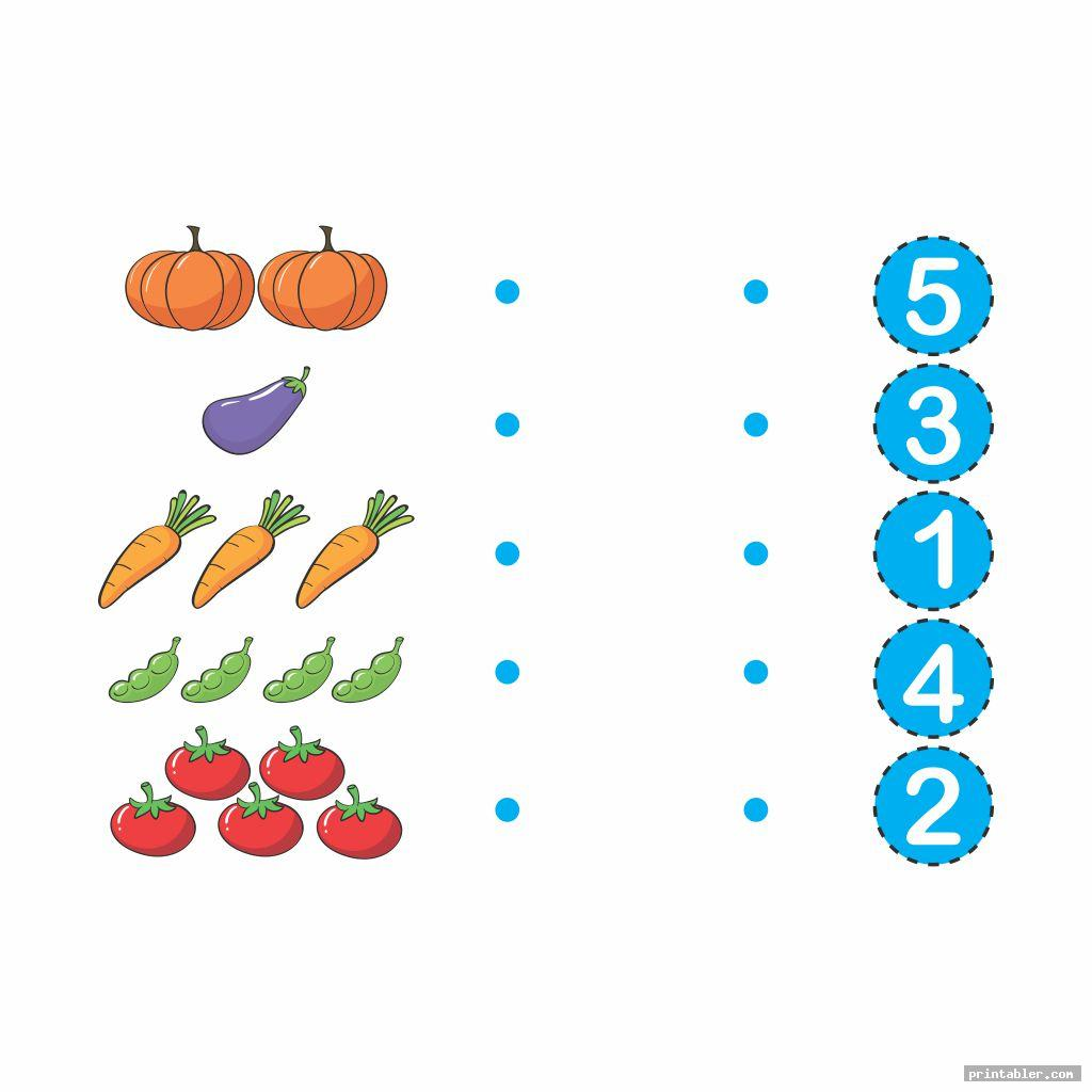 Printable Number Match for Preschool