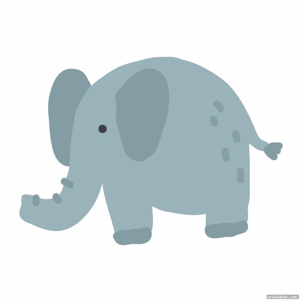 printable nursery and baby elephant image free