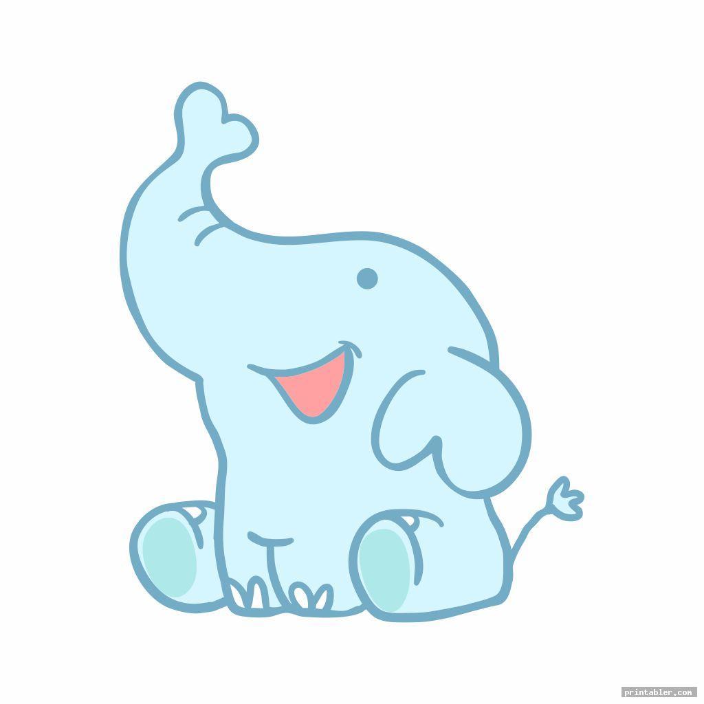 printable nursery and baby elephant template for use