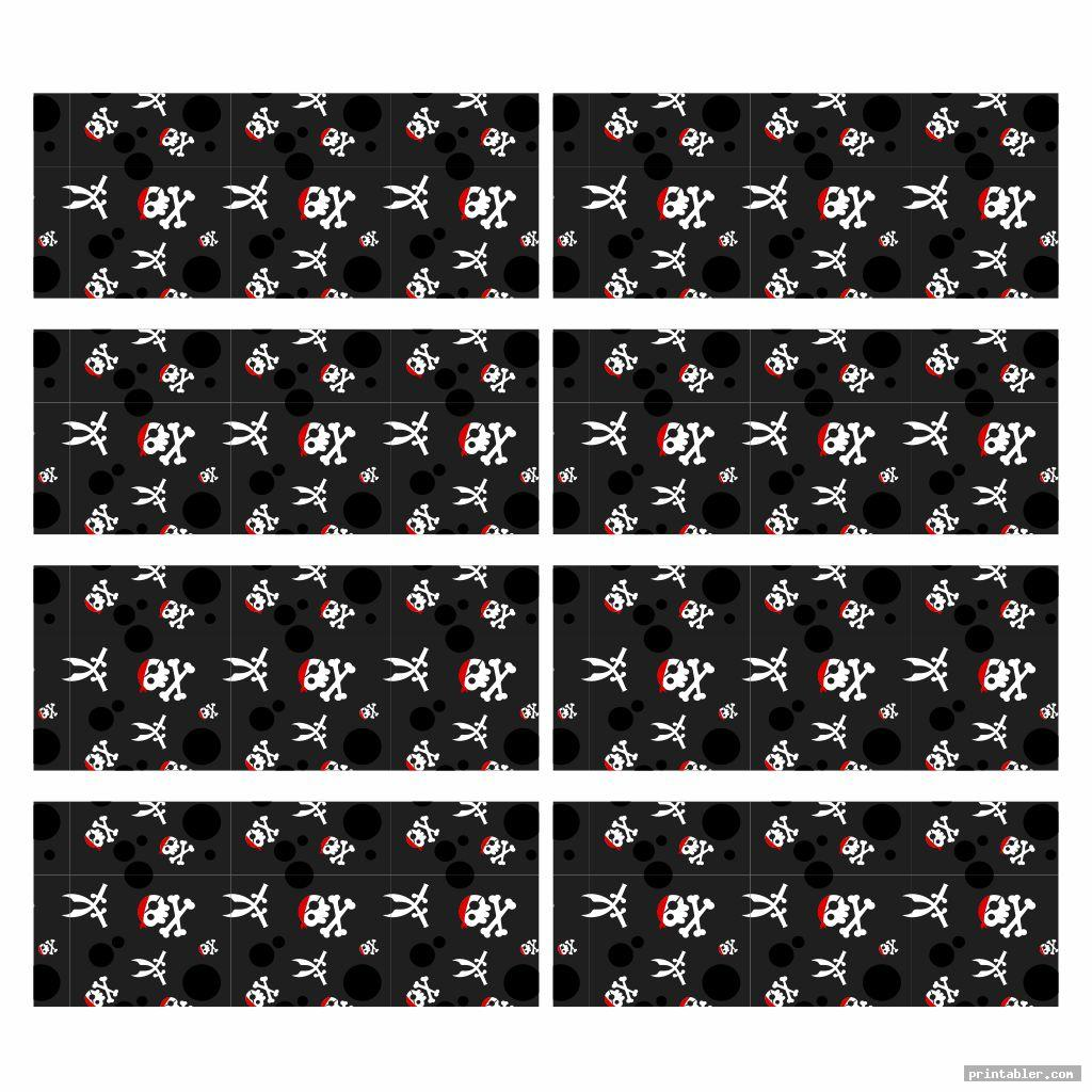 printable pirate straw flags pattern
