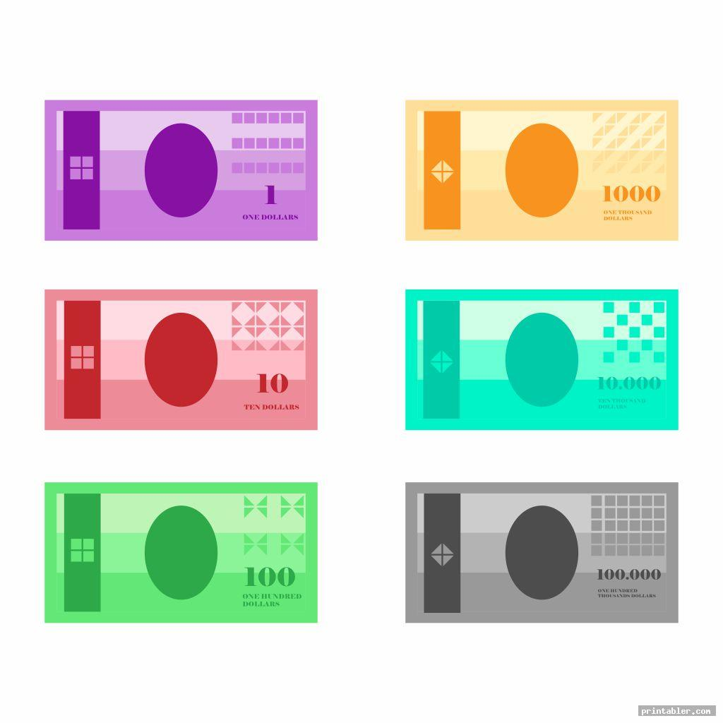 printable play money actual size image free