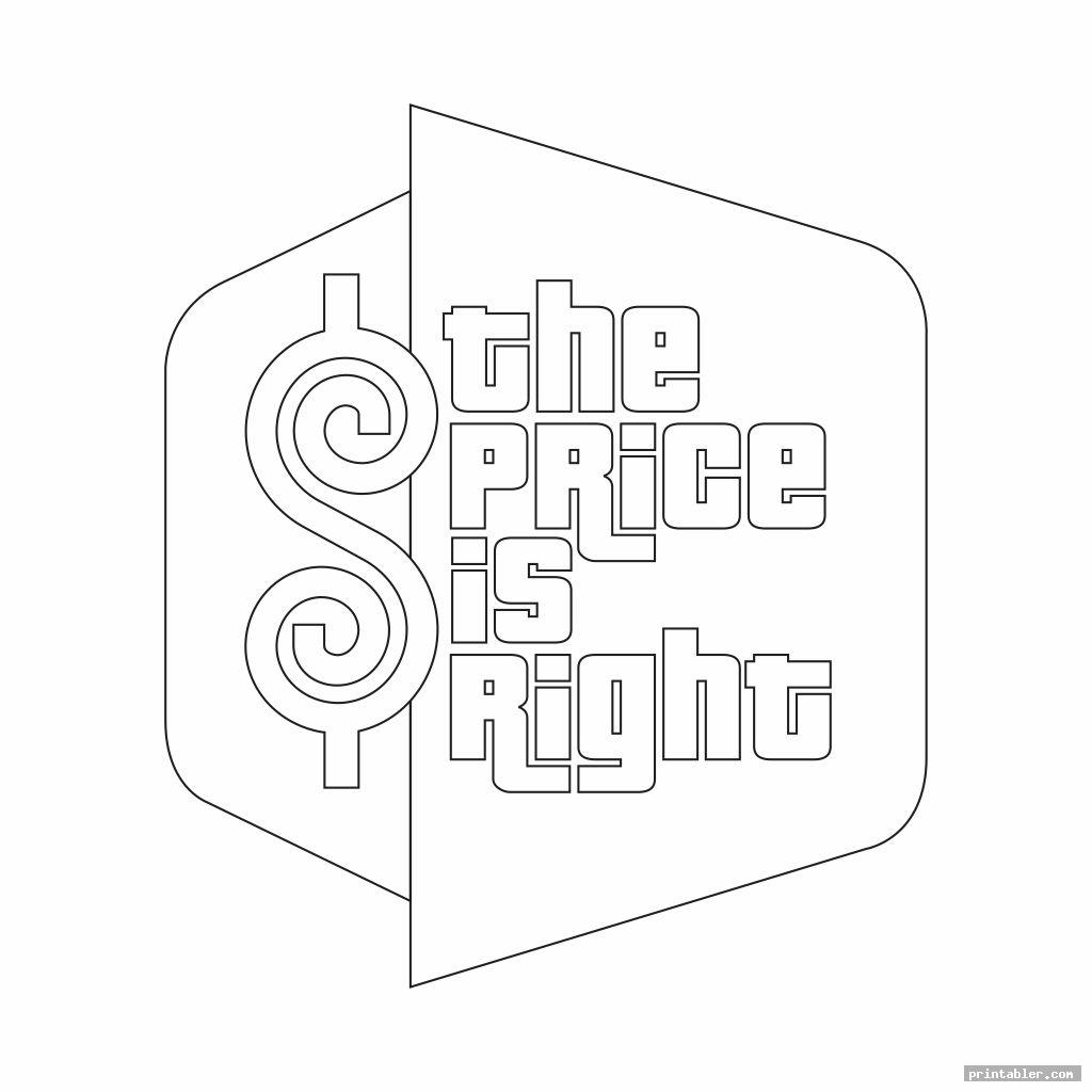 printable price is right logo cutout