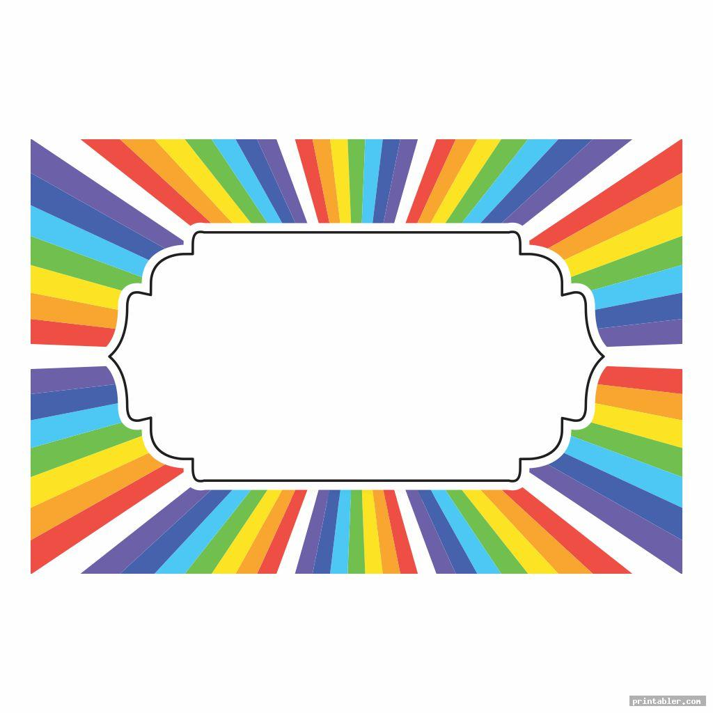 printable rainbow labels image free