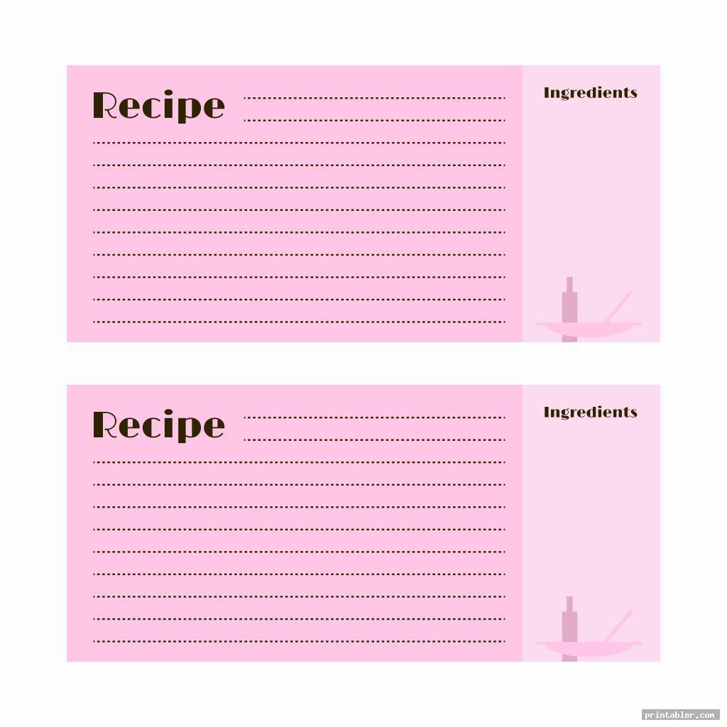 printable recipe cards to type on image free