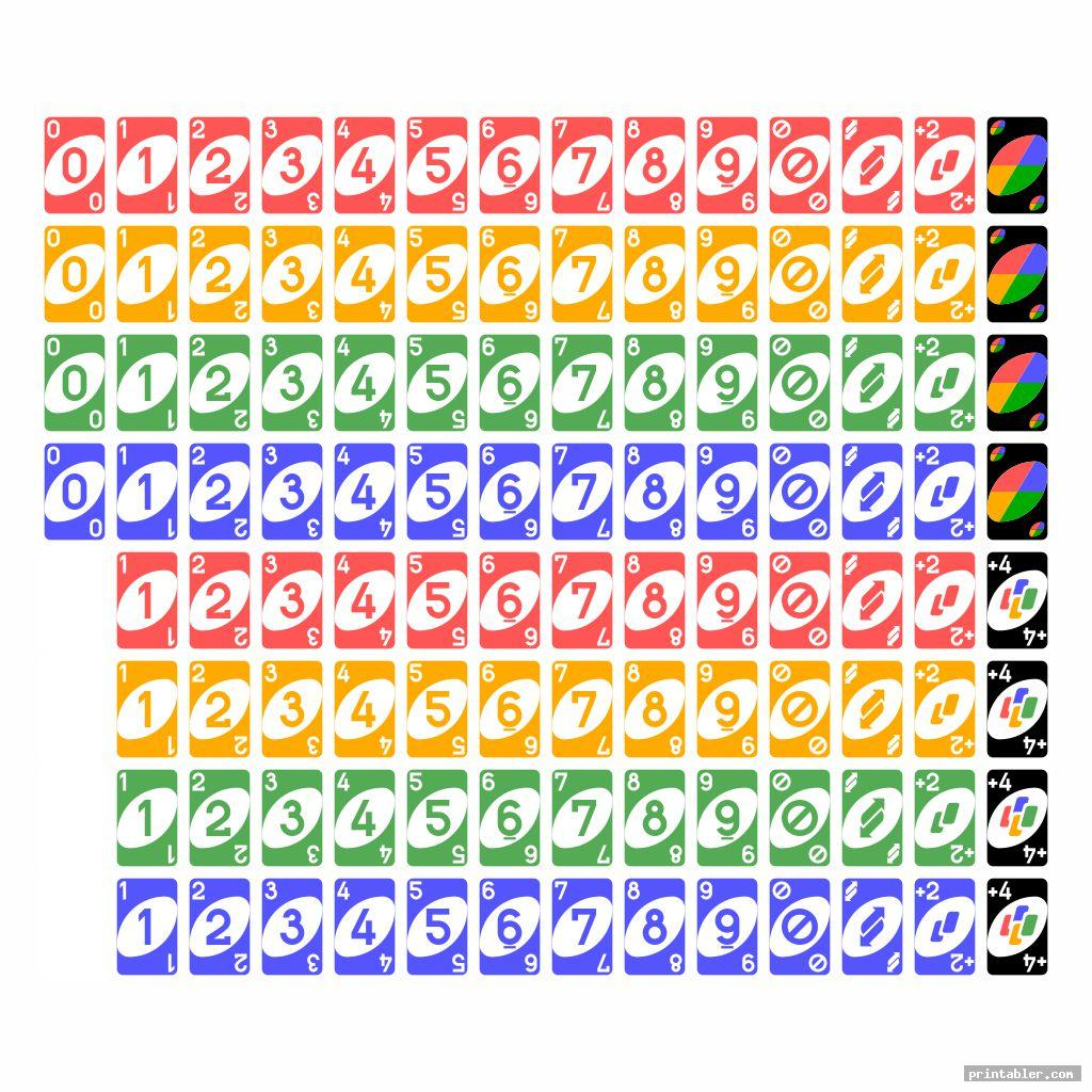 printable uno deck for kids