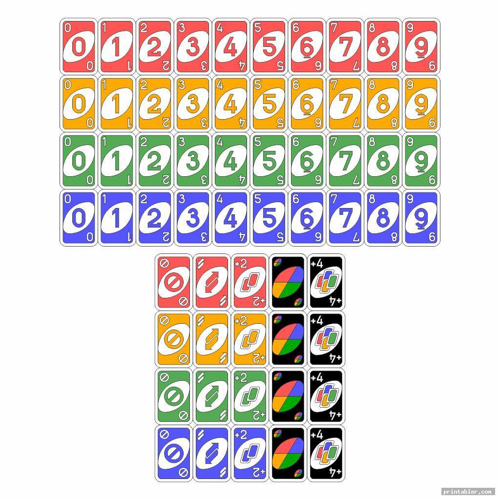 printable uno deck image free