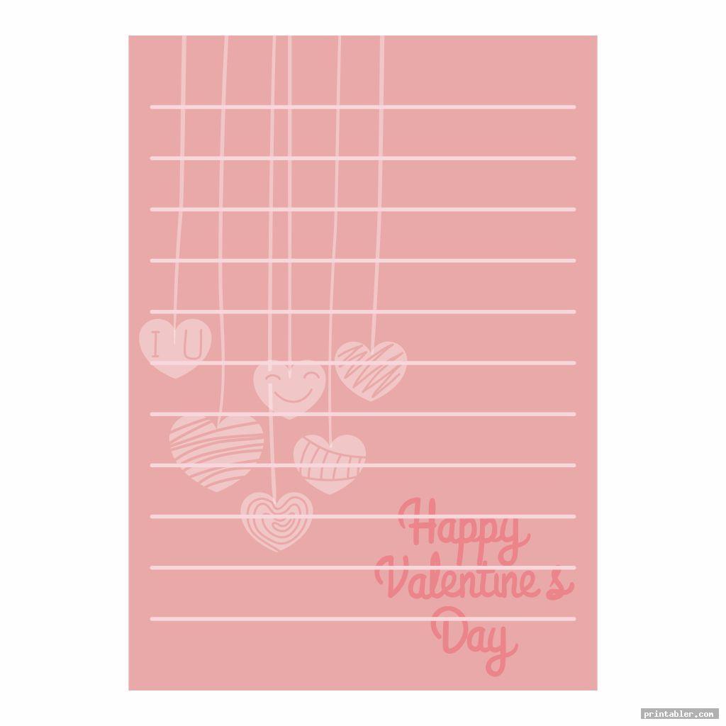 Printable Valentine Day Stationary